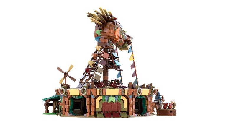 ゼルダ ブレワイの馬宿をレゴで完全再現3