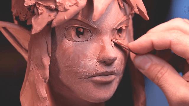 粘土彫刻 ゼルダ